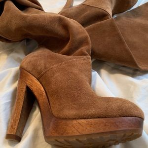 Michael KORS Suede Knee High Boots.